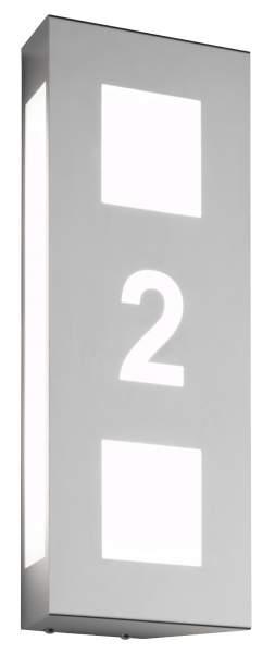 CMD Edelstahl Haus-Nr. Leuchte Aqua Trilo 26
